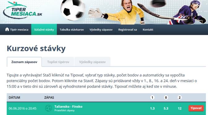 Tipovačka o 100 EUR: Tipujte aj ms v hokeji a vyhrávajte!