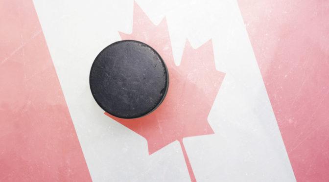 Reklama na hokej. Po predĺžení postupuje do semifinále Kanada